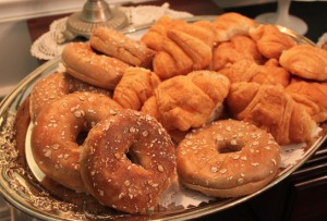 Enjoy a variety of Bagels and Croissants